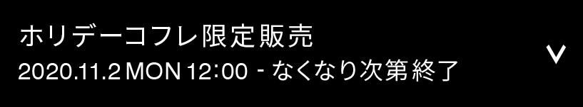 ホリデーコフレ限定販売 2020.11.2 MON 12:00 ‒ なくなり次第終了