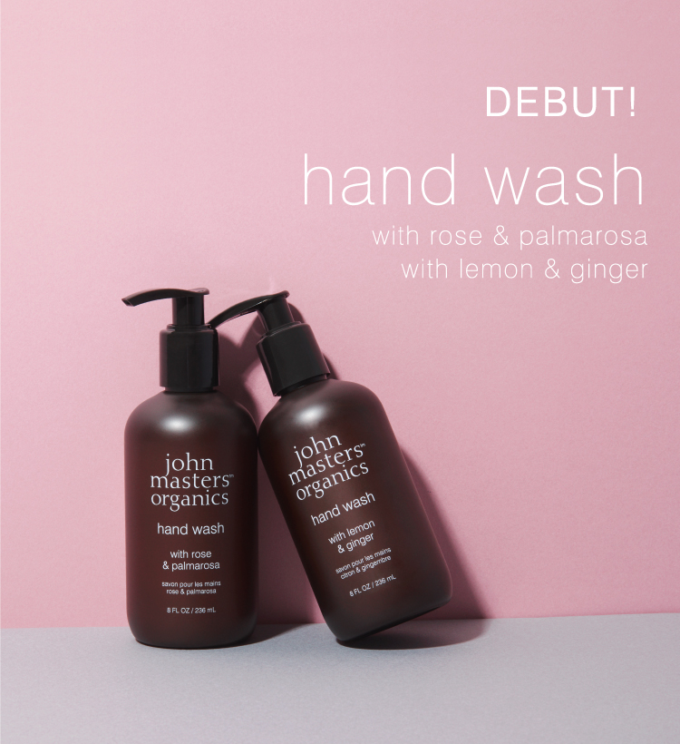 DEBUT! hand wash with rose & palmarosa with lemon & ginger