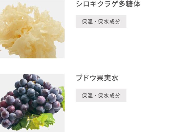 シロキクラゲ多糖体 ブドウ果実水