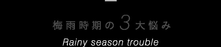 梅雨時期の3大悩み Rainy season trouble