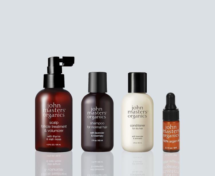 頭皮用スプレーで皮脂バランスを整え、ふんわり根元から弾む髪に導く。これからの季節におすすめキット。